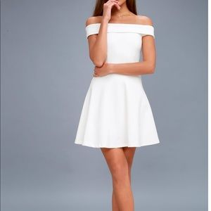 Lulu's white off the shoulder skater dress